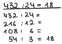 schrittweises rechnen addition